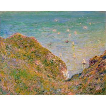 High quality Claude Monet paintings for sale View from the Cliff at Pourville, Bright Weather Canvas art hand-painted