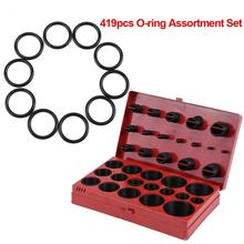 419pcs O-Ring Gaskets Metric Washer Seals Watertightness Assortment Kit Automotive Mechanics O-ring Rubber Silicone Gasket high quality rubber 270pcs 18 sizes o ring kit green metric o ring seals nitrile