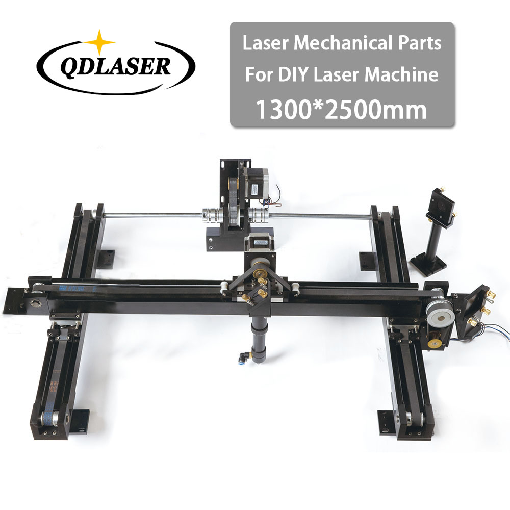 DIY Co2 Laser Engraving Cutter Machine Parts Set 1300*2500mm Size Mechanical Laser Spare Parts Kit co2 laser machine laser path size 1200 600mm 1200 800mm