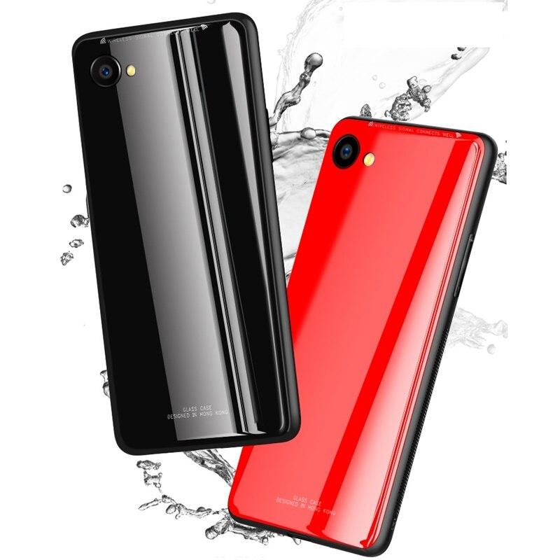 Case For Oppo A79 A83 A73 A71 A57 A39 A59 A37 F7 A3 F9 Find X Cover Luxury  9H Tempered Glass TPU Soft border case kimTHmall 83e796740d4d