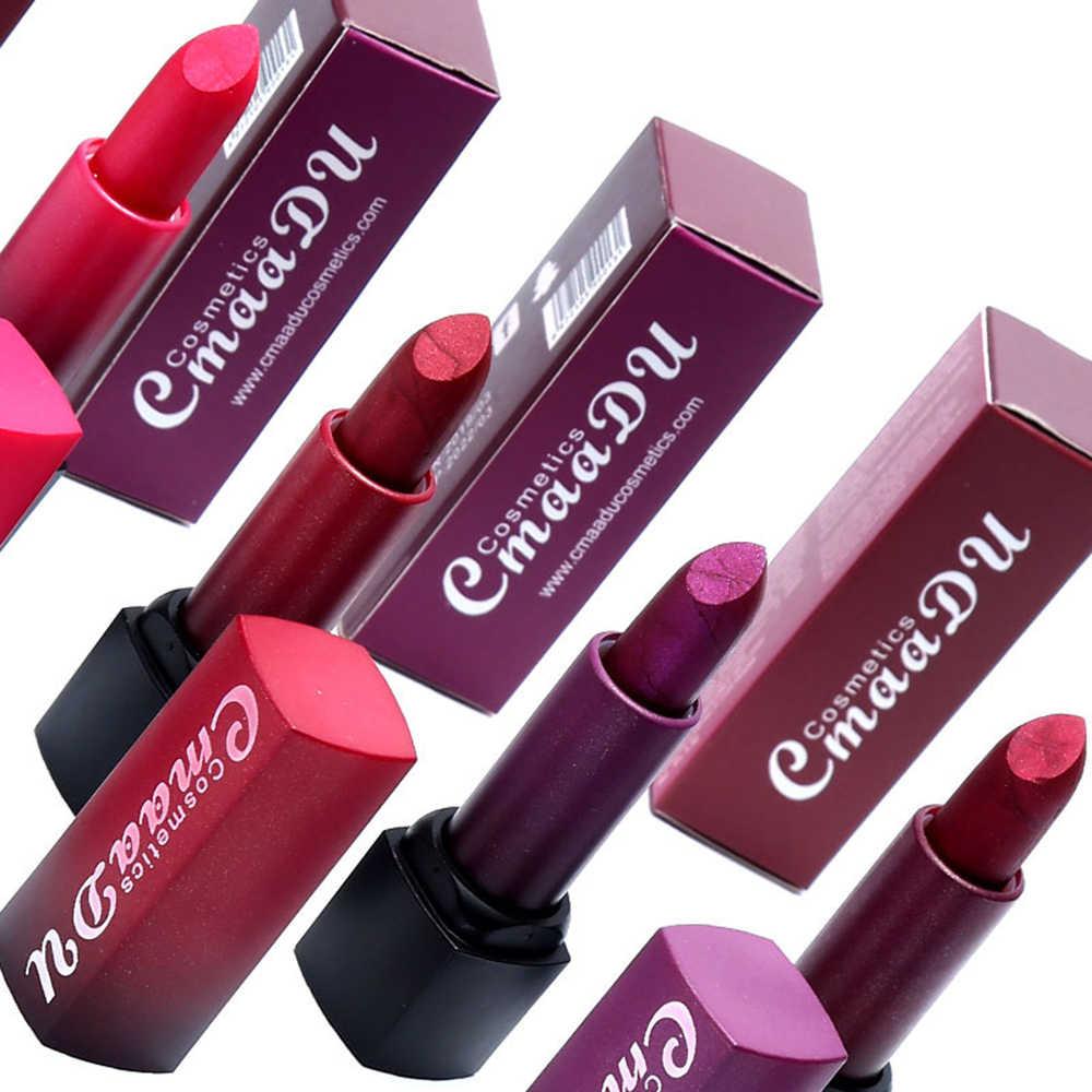 CmaaDu 1 Pc brillant diamant couleur métallique hydratant rouge à lèvres durable ne se décolore pas baume à lèvres imperméable pour lèvres maquillage TSLM2