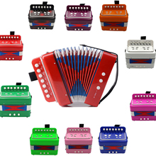 Free shipping!7 Keys 2 Bass Kids Children Accordion Educational toy Accordion 3+ ages Accordion(9 colors optional