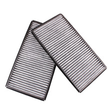 New 2X Cabin Charcoal Carbon Air Filter 64116921019 For BMW 7 Series E65 E66 745i 745Li 750Li 760i 760Li Grey Black 2002-2008