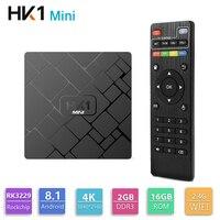 Original HK1 mini Android 8.1 TV BOX RK3229 Quad Core 2GB 16GB Smart 4K H.265 WiFi Media Player HK1mini Netflix Set top box IPTV