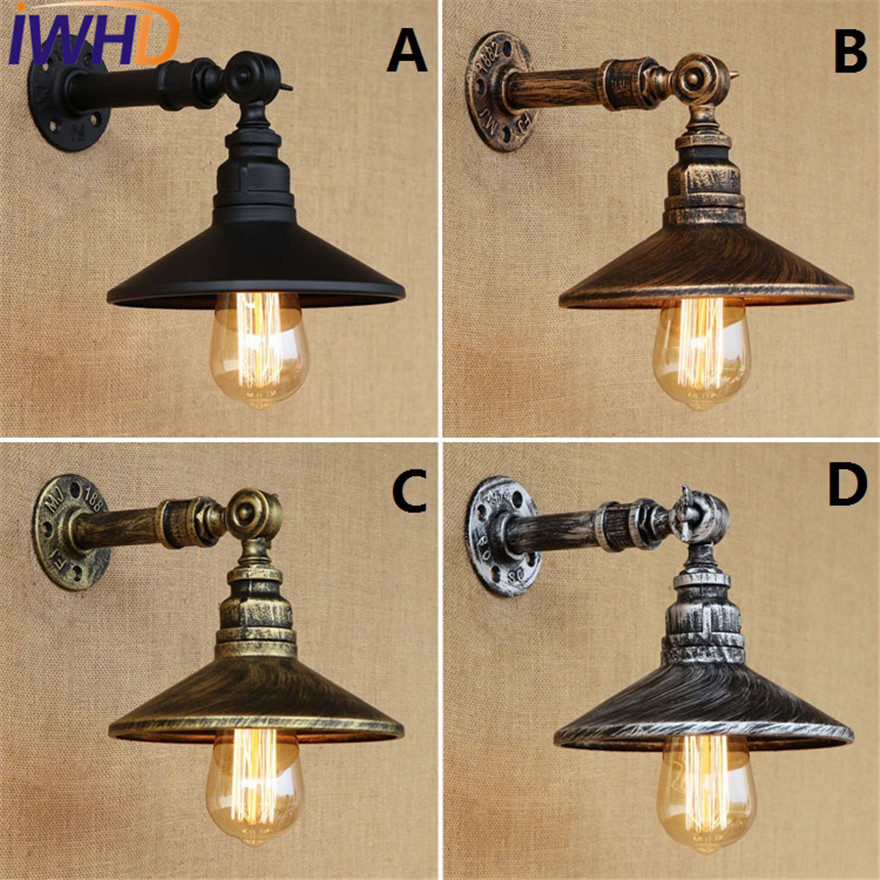 IWHD E27 Loft Style Iron Vintage Wall Lamps Industrial Edison Wall Sconce Retro Water Pipe Wall Light Fixtures Indoor Lighting иберогаст капли для приема внутрь 50 мл