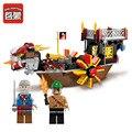 ENLIGHTEN 1307 Пиратский Корабль сын Моря Building Blocks Набор Экипажа Дети Модель Игрушки Совместимость Legoe Для Детей