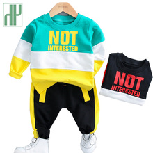 Boys clothes striped shirt Casual Sweatshirts+Pants Winter fall outfits Children Clothing Cotton Costume For Kids Sport Suit цена в Москве и Питере