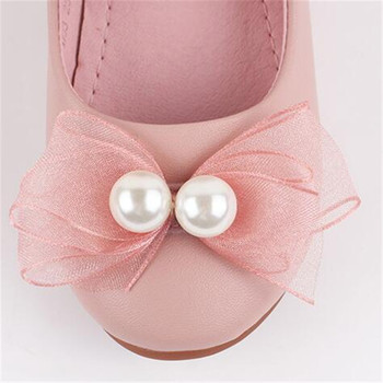 Moccasin Shoes For Babies | New Children Dance Party Bowknot Pearl Flat With Princess Shoes Girls  Genuine Leather Baby Moccasins Kids Leather Shoes 04