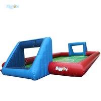 Inflatable biggors мульти человек спортивные игры, надувные мыло футбольное поле надувные футбол курс