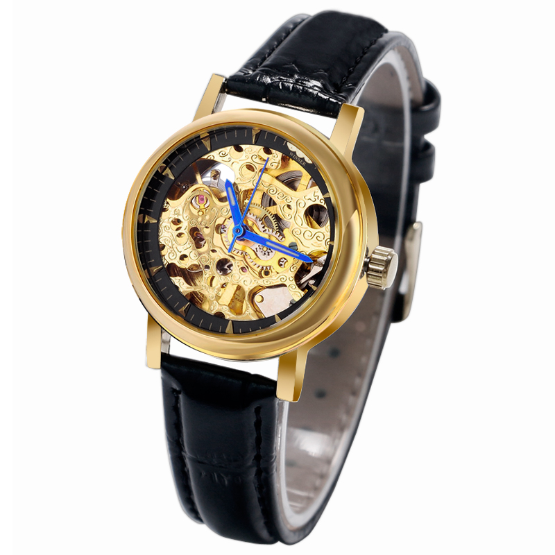 T-WINNER See-through Design Mechanical Automatic Men Watch Classical Skeleton Women Wristwatch Fashion Business Reloj Hombre tian wang leather strap automatic mechanical watch for business casual men with ss see through case back gs5789s d