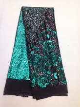 African lace fabric with sequins