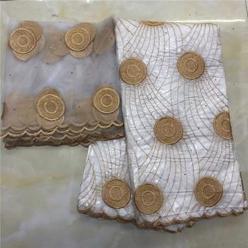 2019 Nieuwe aankomst Steen afrikaanse Bazin riche getzner stof met borduurwerk kant/bazin riche jurk materiaal Nigeriaanse KY042723