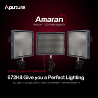 Aputure Photography Video Light HR672 High CRI95+ Led Video Light Panel HR672WWS Kit Studio Light Kit 3 light kit