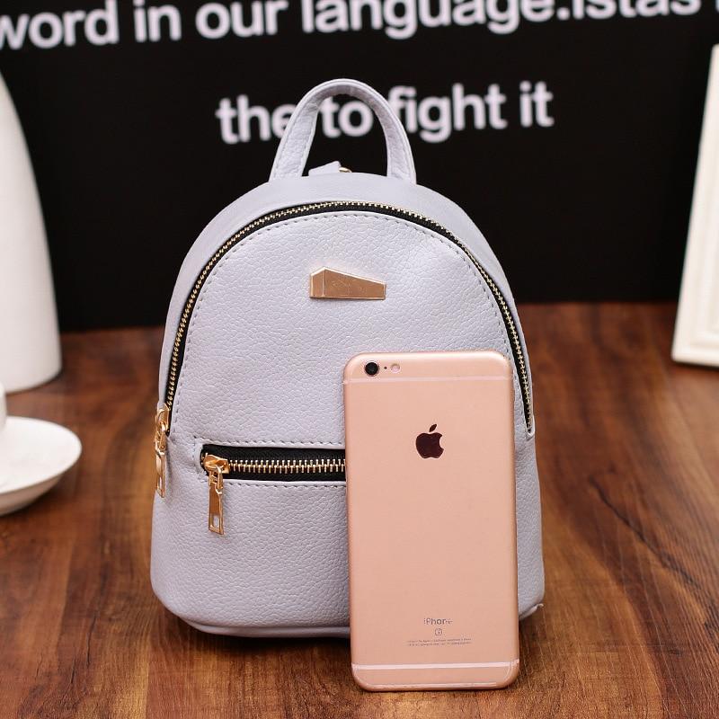 ttou mulheres mini mochila mochila Abacamento / Decoração : Nenhum