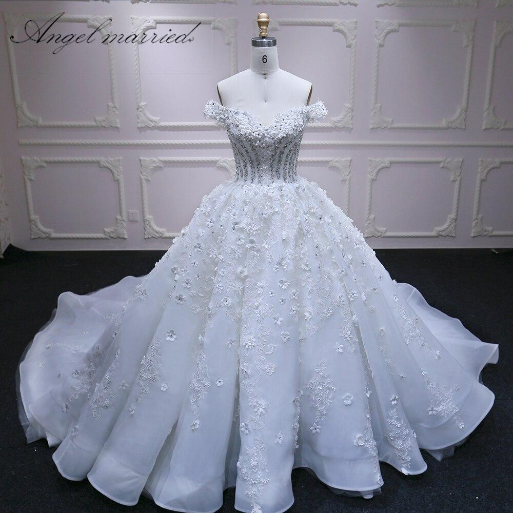 Cap Sleeve Wedding Dresses: Angel Married Wedding Dress Cap Sleeve Ball Gown Bridal