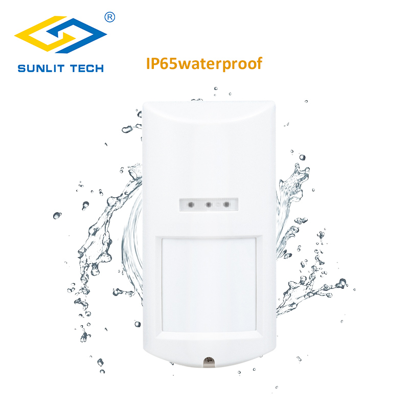 Outdoor Intelligent Wired Dual-tech Pir Motion Sensor Wide Angle Lens Infrared Microwave Waterproof Motion Detector Alarm System