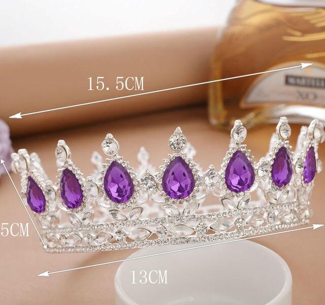 2 inch Queen Crown White Black Crystal Rhinestone Tiaras Pageant Bridal  Wedding Hair Accessories 1ea52d673122