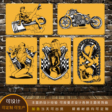 Vintage Motorcycle Design Iron Painting Fashion Tin Sign For KTV And Night Club Decoration Tins Poster Hot Sale 20*30cm