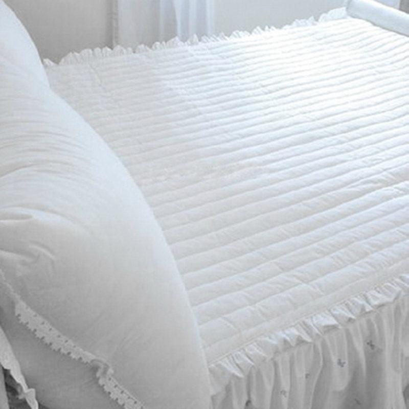 Style coréen all-match matelassé lit tapis à volants rides fait à la main matelas princesse chambre élégante literie lit pad doux lit tapis