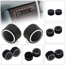 2Pcs Car Audio Control Silicone Knobs