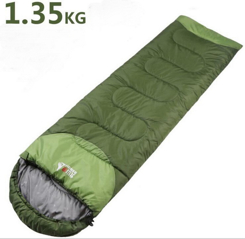 ФОТО Down feathe Waterproof can stitching camping sleeping bags outdoor supplies winter indoor travel camping warm adult sleeping bag