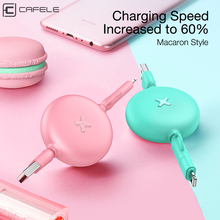 CAFELE 2 in 1 retractable USB fast charging Cable 1m For iPhone X Xs max 8 7 6s plus 5s ipad micro android use cable for IOS 13