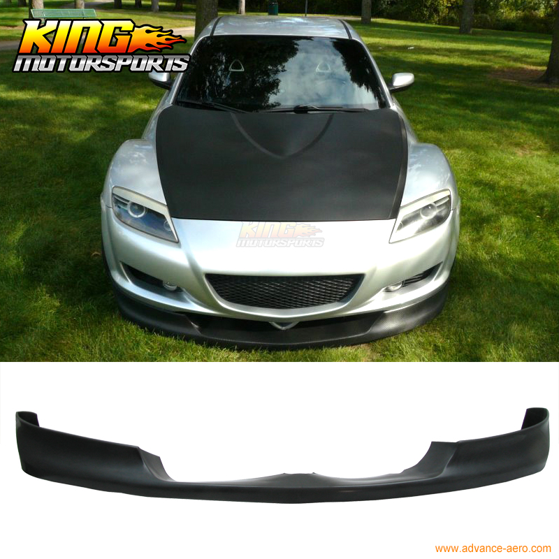 FIT FOR 04-08 Mazda RX8 Type Sport Front Bumper Lip Urethane fit rx карнитин fit rx l carnitine 3000 20капс х 25мл
