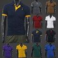 2016 мужская Летом Палевый Вышивка Тонкий Polo Tee Топы С Коротким Рукавом Рубашки 8N89