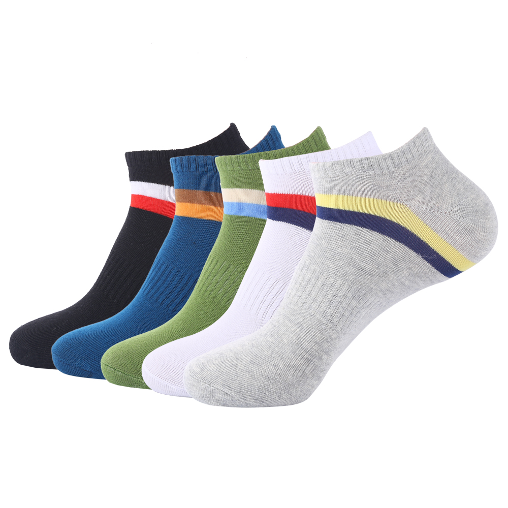 Fashion Mens Summer Socks Plus Size 5 pairs casual Cotton Low Cut Socks Mens Ankle Socks Large Size fit EU 43-47
