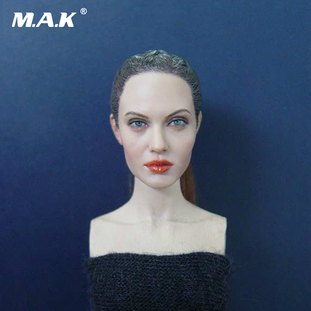 1/6 Scale Head Sculpt KM36 Angelina Jolie Head 12 Female Action Figure Doll Head Carving Model Toys 1 6 female head for 12 action figure doll accessories marvel s the avengers agents of s h i e l d maria hill doll head sculpt