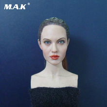 1/6 Scale Kumik Head Sculpt KM36 Angelina Jolie Head 12 Female Action Figure Doll Head Carving Model Toys exquisite 1 6 scale accessories custom head sculpt carving female kumik 13 10 fit 12phicen cy hot toys woman body action figure