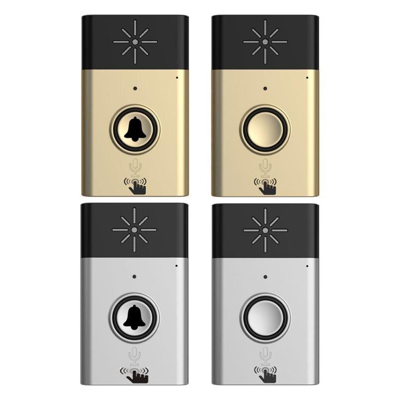 Intelligent Wireless Doorbell Voice Intercom 300M Distance Door Bell Outdoor Transmitter + Indoor Receiver Door Ring wireless doorbell with speaker voice intercom 300m distance silver glod