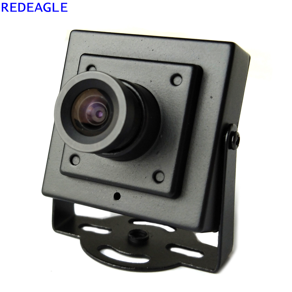 REDEAGLE 700TVL CMOS Wired Mini Box Micro CCTV Security Camera with Metal Body 3.6MM Lens