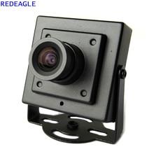 REDEAGLE 700TVL CMOS kablolu Mini kutu mikro CCTV güvenlik kamera Metal gövde 3.6MM Lens