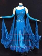 Standard Ballroom Dancing Dress100% New Good Quality Sparkle Glass Stone Women Waltz Tango Ballroom Competition Dance Dresses