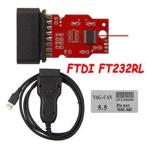 Image 1 - Câble de Diagnostic de Correction dodomètre 16 broches, FTDI FT232RL VAG CAN Commander 5.5 + Pin Reader 3.9Beta USB à OBD2 de qualité supérieure
