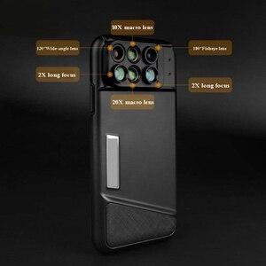Image 3 - חדש עבור iPhone XS מקסימום Dual מצלמה עדשת 6 ב 1 Fisheye רחב זווית מאקרו עדשה עבור iPhone XS XR xs מקס טלסקופ זום עדשות + מקרה
