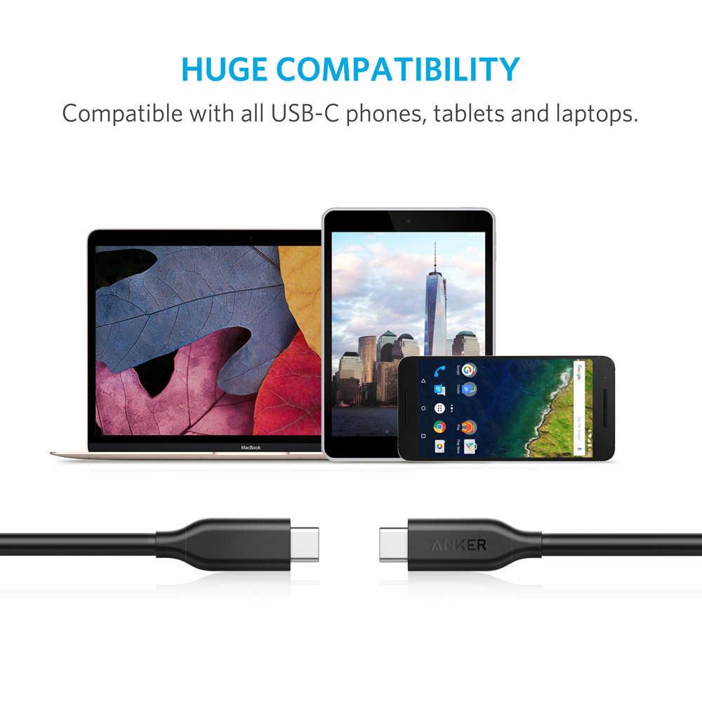 Cable Anker Powerline USB-C a C 3,1 Gen 1, entrega de energía para dispositivos USB tipo C Galaxy, pixel iPad 2018 Pro MacBook Matebook etc.