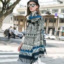 2019 Fashion Scarves and Shawls Women Brand Scarf Wool Pashmina Wrap Winter Warm Cape Poncho Face Shield Bandana Muslim Hijab