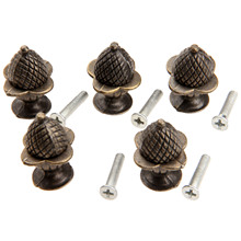 5Pc 30x23mm Antique Furniture Cabinet Knobs and Handles Kitchen Drawer Cupboard Handles Jewelry Box Wooden Case Knob Pull Handle цена