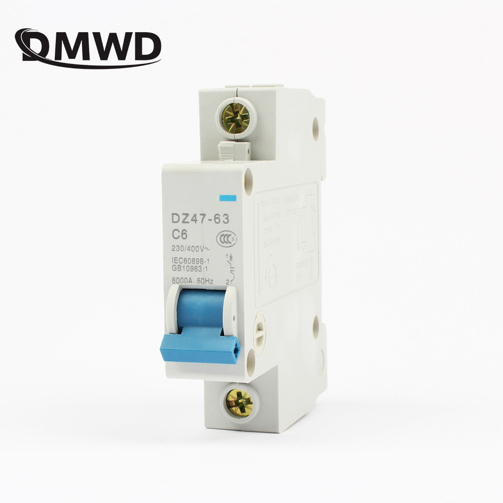 DZ47-63 6A 10A 16A 1P AC 230V Or 400V 20A 25A 32A 40A 50A 63A Mini Circuit Breaker MCB Cutout Switch Breaker Switch Chopper 3 5cm din rail mounted dz47 100h d100 ac 400v 4 pole circuit breaker