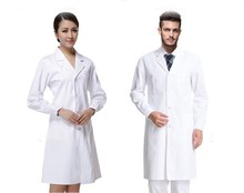 Nurse uniform long-sleeve doctor coat short sleeve Overalls lab cotton white Clothing nurse costume uniform overall freeshipping
