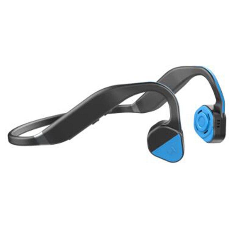 F1 Intelligent Stereo Bone Conduction Headphones Wireless Bluetooth Headset Running Earphone With Microphone For Smartphone bt4 1 stereo bluetooth headset adjustable earphone wireless headphones headset with mic and volume control for smartphone adults