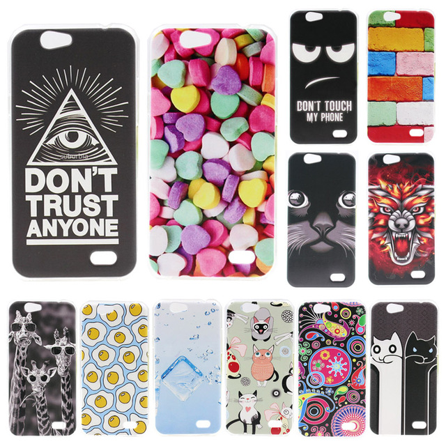 For ZTE blade a465 Case Cover Soft Silicone TPU Case Fashion Coloured Pattern Protective Back Cover For ZTE A465 Phone Cases