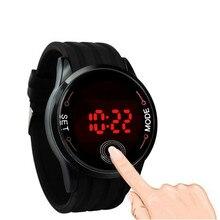 Высокое качество, мужские часы, Фирменный подарок, модные водонепроницаемые мужские часы, светодиодный сенсорный экран, дата, силиконовые наручные часы, relogio masculino@ 25