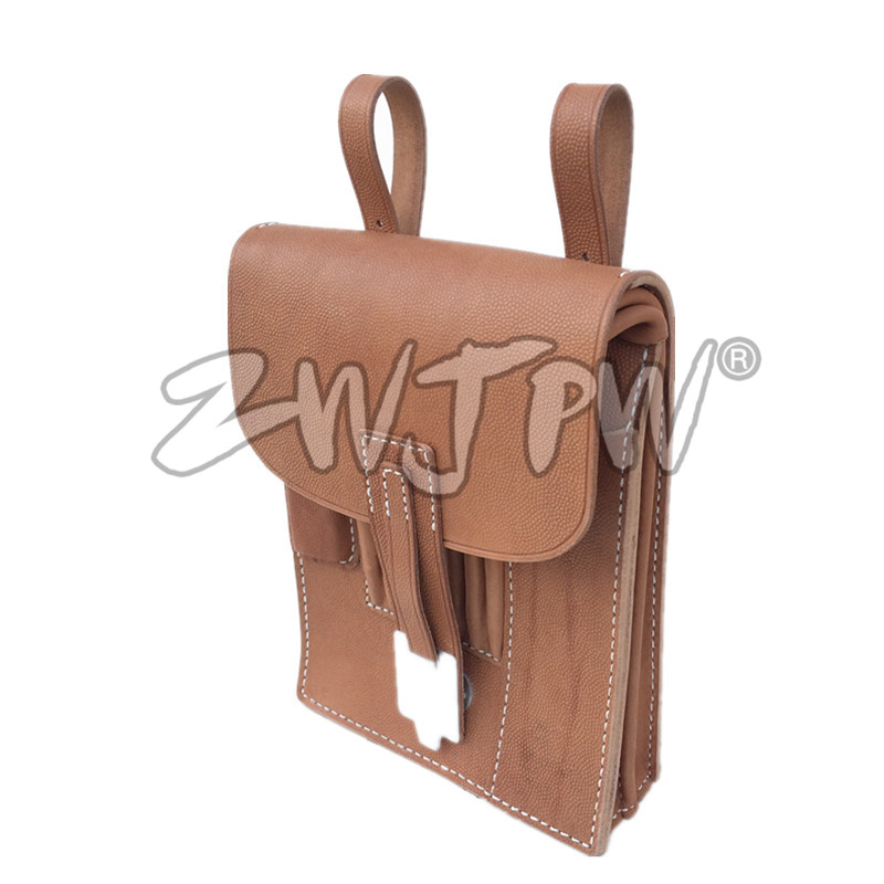 Army M35 Leather Map Bag Case WW2 Repro Military Hunting ww2 china army leather hunting submachine gun 10 clips folder pouch bag package cn 104125