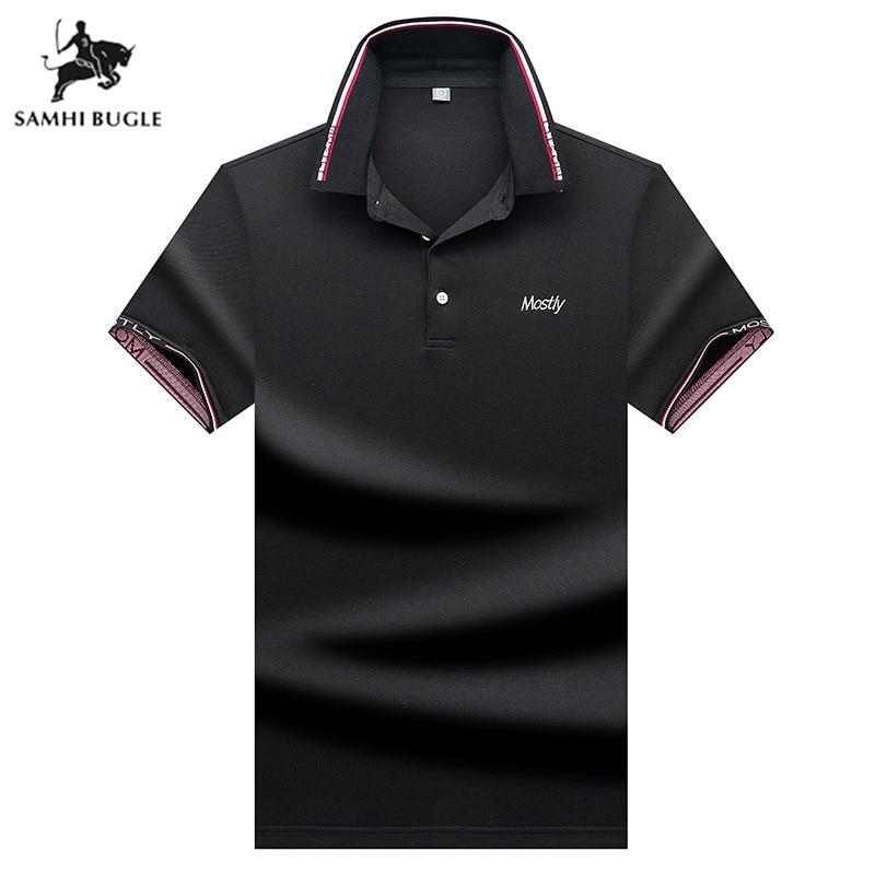 Mens Clothing 2019 new summer   polo   shirt men short sleeve   polos   shirt Business Business casual lapel   polo   shirt men black