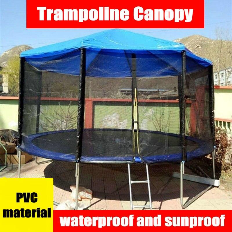 Materiał pcv trampolina parasolka, 8 stóp trampolina baldachim, deszczoodporna dzieci trampolina cień pokrywa, część trampolina