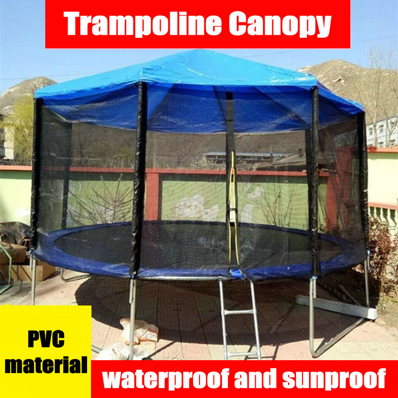 PVC Material Trampoline Sunshade, 8 Feet Trampoline Canopy, Rainproof Kids Trampoline Shade Cover, Trampoline Part