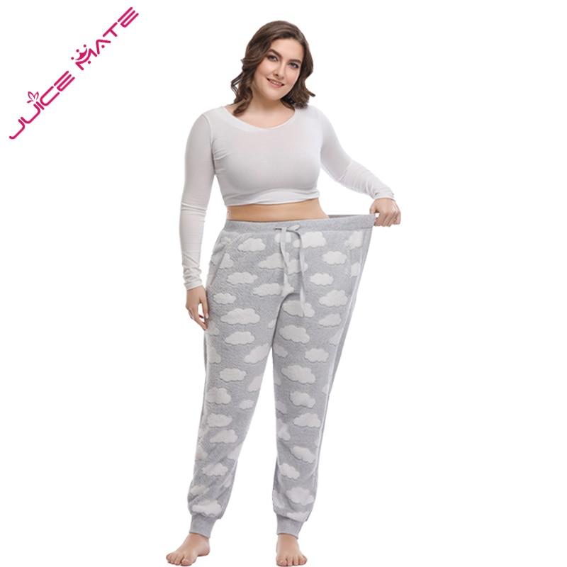 Gut Frauen Große Größe 3xl-5xl Pyjama Hosen Legging Track Hosen Frauen Hause Kleidung Der Große Größe Vollen Hosen Pyjama Hosen Für Frauen Damen-nachtwäsche